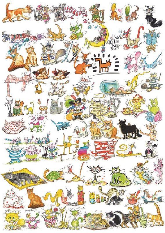 Puzzle 101 pisici si un soricel, 1000 pcs