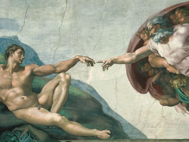 Puzzle Michelangelo crearea lui adam, 1000 pcs