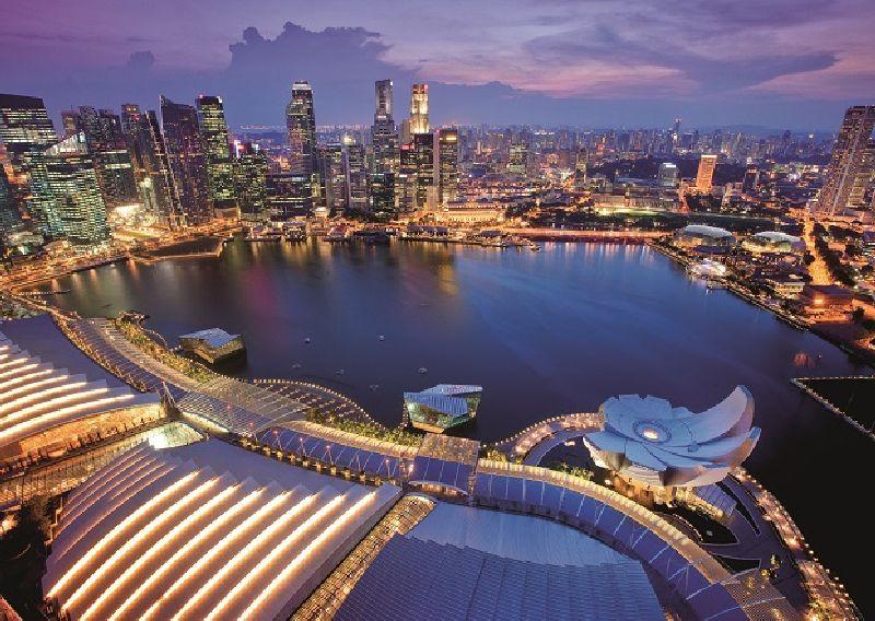 Puzzle orizontul orasului Singapore, 1000 pcs