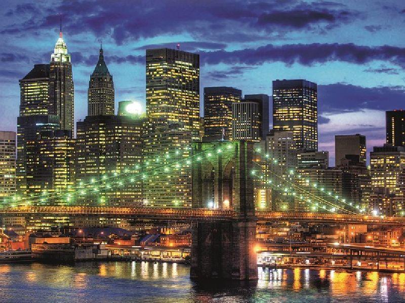 Puzzle orizontul orasului New York, 1500 pcs