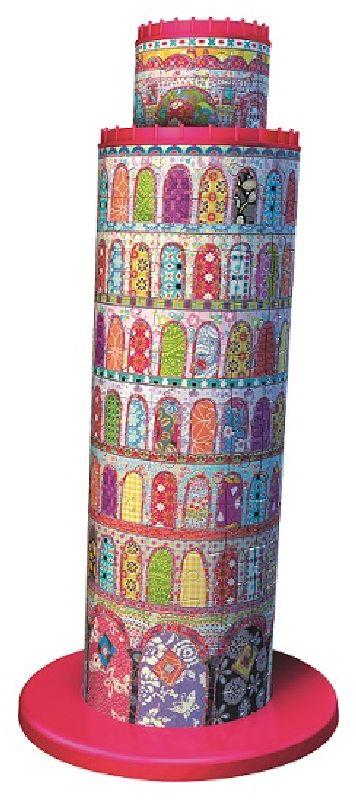 Puzzle 3D Turnul din Pisa colorat, 216 pcs