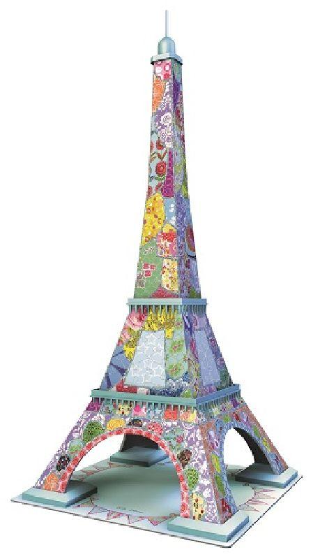Puzzle 3D Turnul Eiffel colorat, 216 pcs