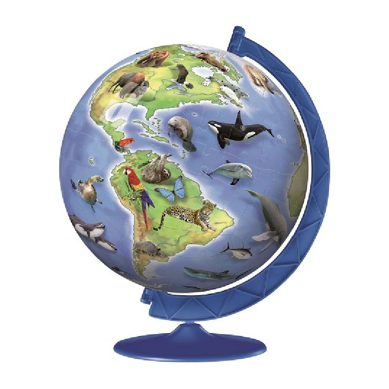 Puzzle 3D specii de animale, 180 pcs