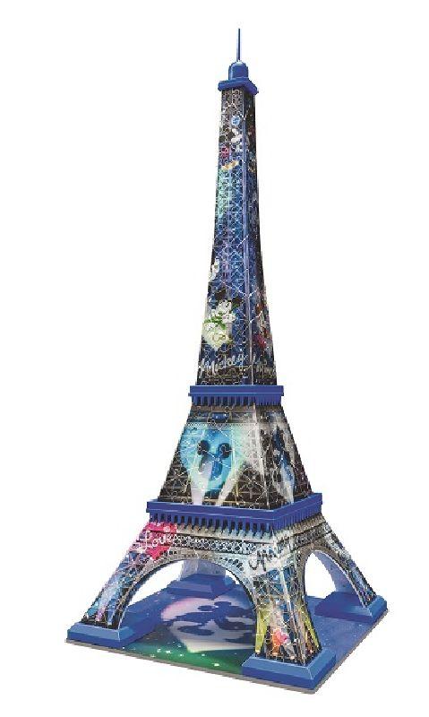 Puzzle 3D Turnul Eiffel mickey & minnie, 216 pcs