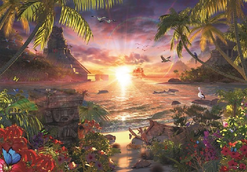 Puzzle apusul in paradis, 18000 pcs