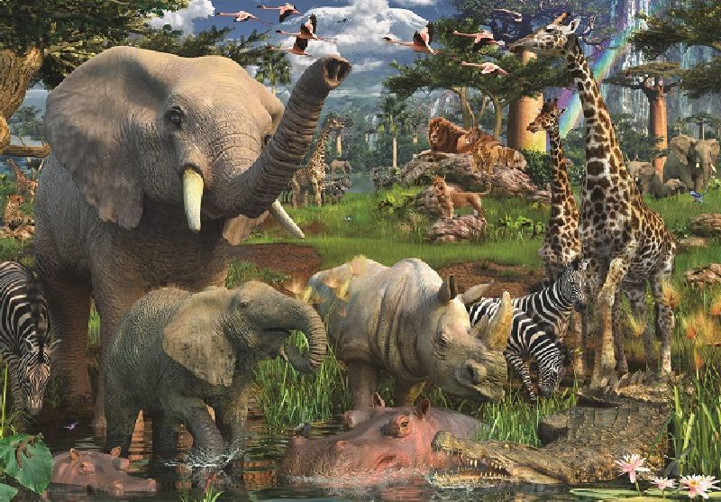 Puzzle animale in salbaticie, 18000 pcs