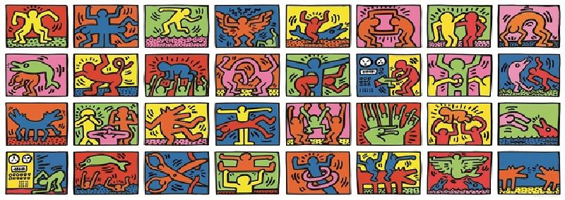 csPuzzle Keith Haring retrospectiva dubla, 32000 pcs