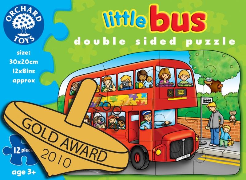 Puzzle fata/verso ,Autobuz 12 piese