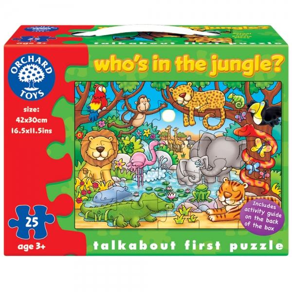 Puzzle activitati Cine este in jungla,25 pcs