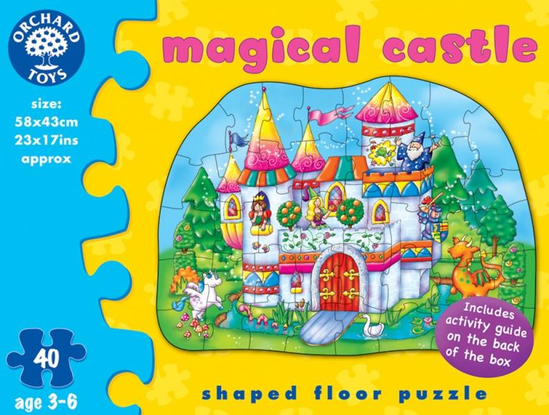 Puzzle de podea, Castelul magic, 40 piese