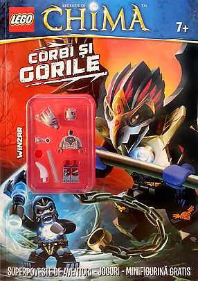 LEGO. CORBI SI GORILE. SUPERPOVESTE DE AVENTURI. JOCURI. MINIFIGURINA LEGO CHIMA
