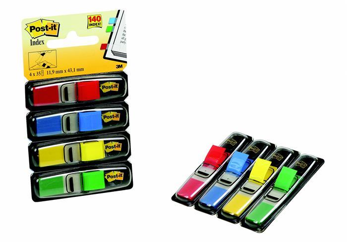 Index Post-it ®,12x4 3mm,35x4file,4culori
