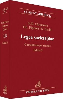 LEGEA SOCIETATILOR COMENTARIU PE ARTICOLE EDITIA 5