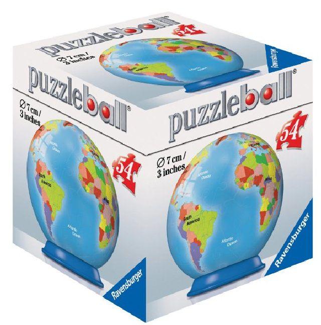 Puzzle 3D Globul pamantesc, 54 pcs