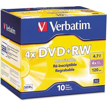 DVD-RW VERBATIM 4.7GB 4X JEWEL CASE