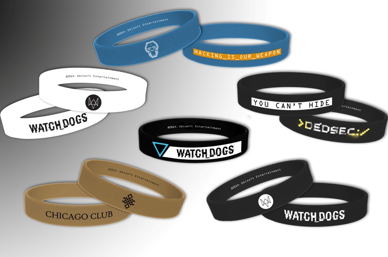 Watch Dogs Silicone Wristband
