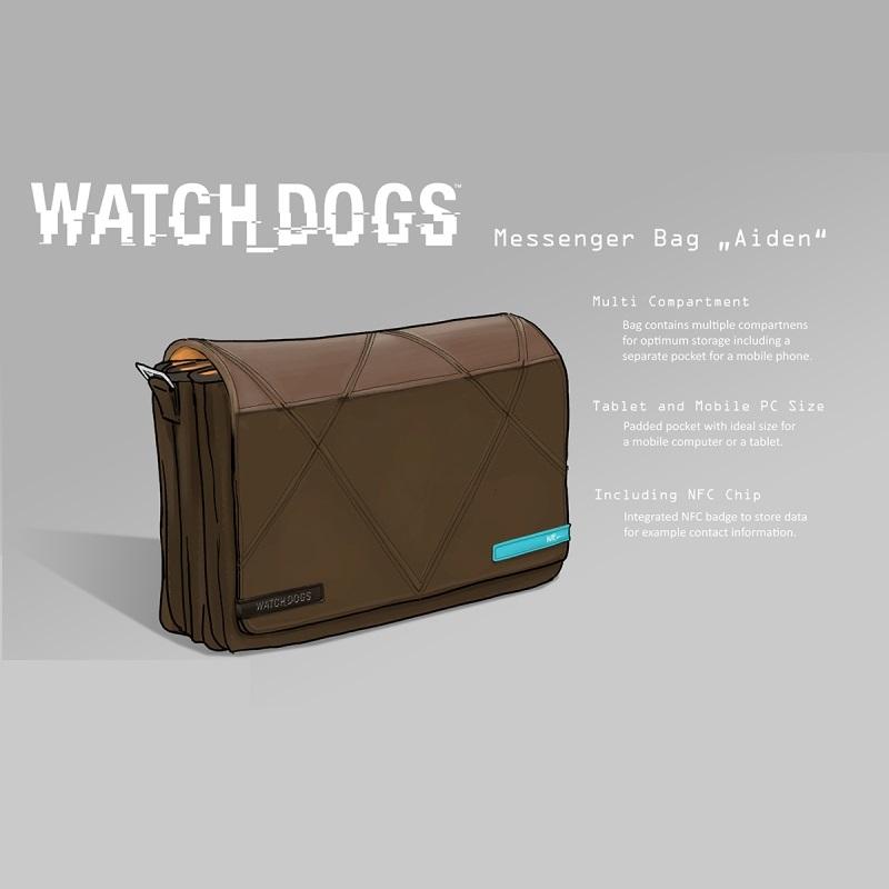 Watch Dogs Hacker NFC Messenger Bag