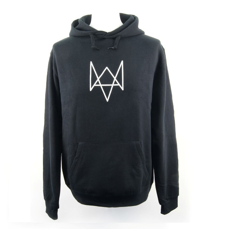 HOODIE Watch Dogs Fox Logo Size M