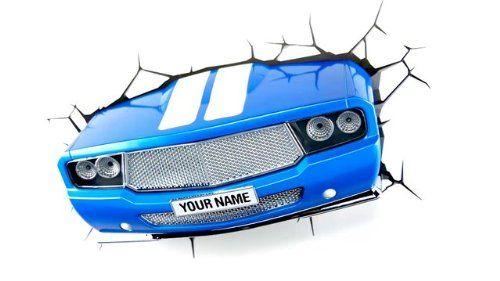 Lampa de perete masina (Albastru)