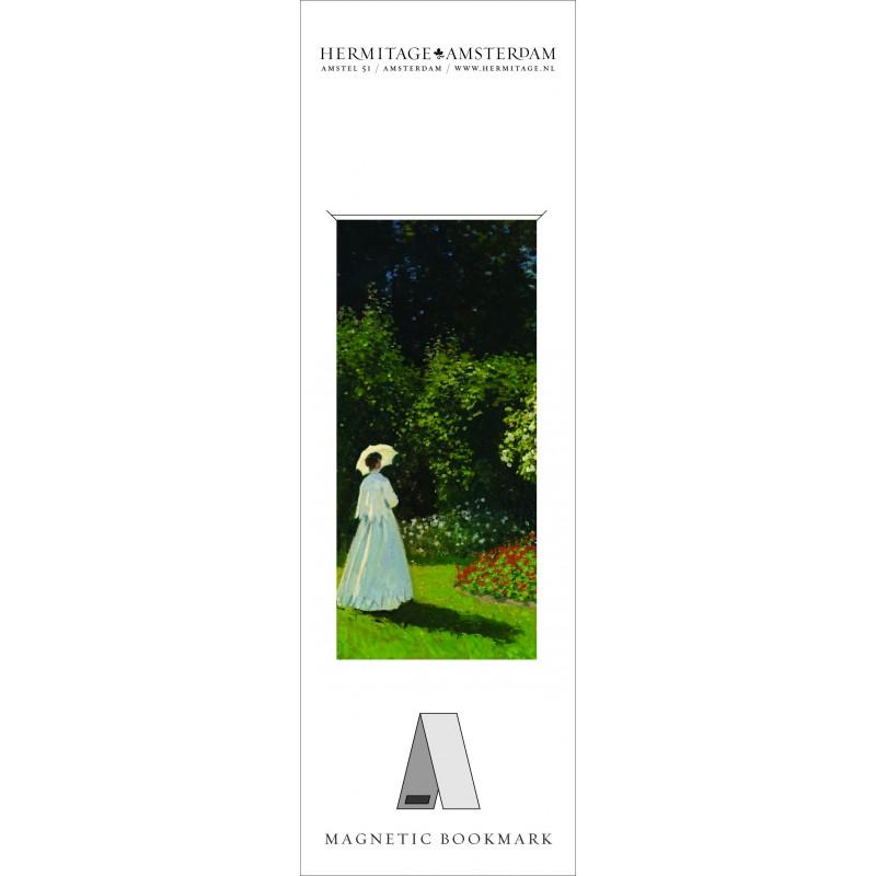 Semn carte WomanInGarden Monet Hermitage