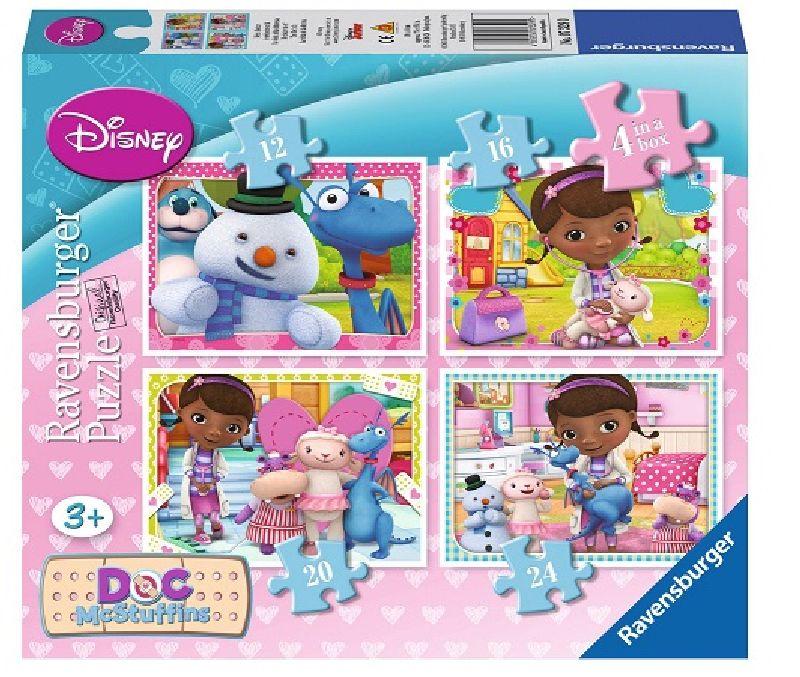Puzzle doctorita Plusica 4in1,12/16/20/24pcs