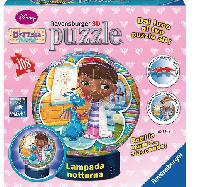Puzzle 3D doctorita Plusica,luminos,108 pcs