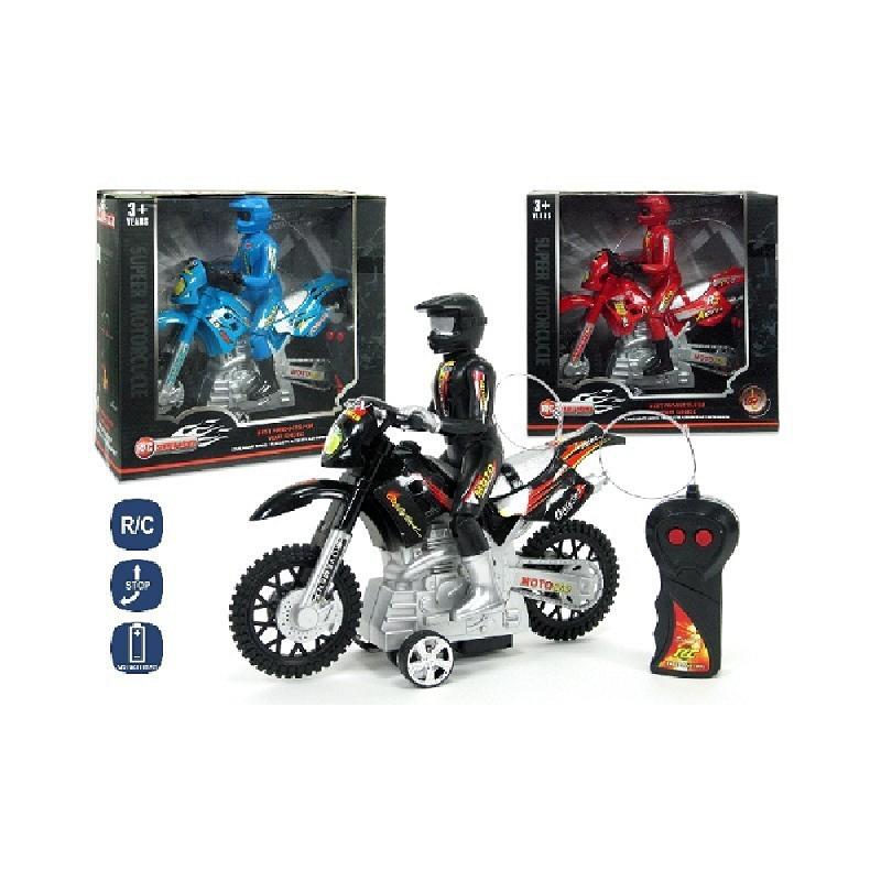 Motocicleta RC, 3 functii, 24 cm
