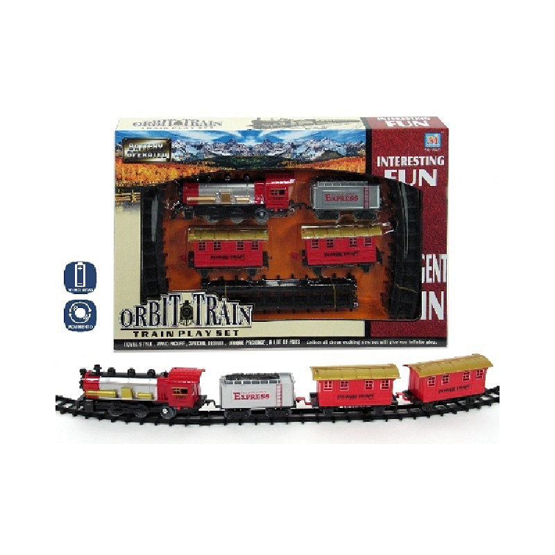 Set tren cu 3 vagoane si circuit de 4m