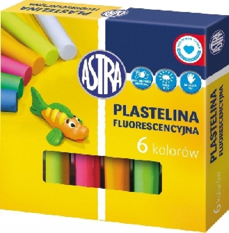 Plastilina Astra,6culori fluorescente