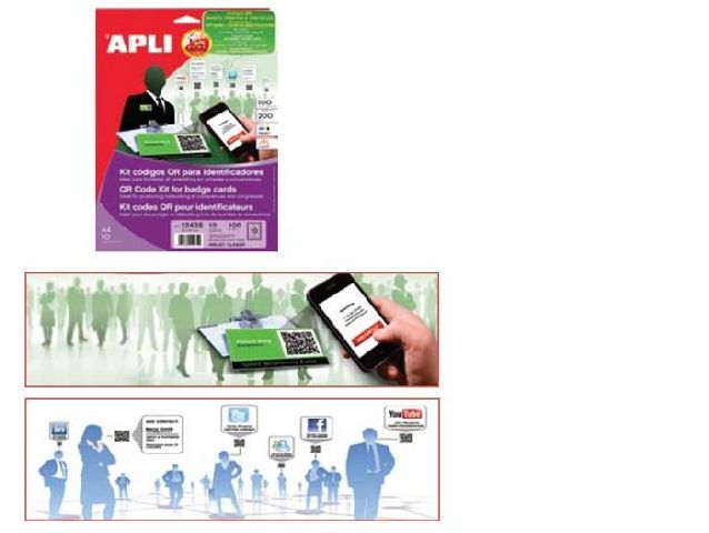 Kit carti vizita Apli+soft QR,200g,10b/s
