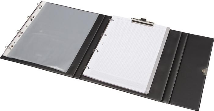 Mapa portof.PVC,inchid.capsa,negru