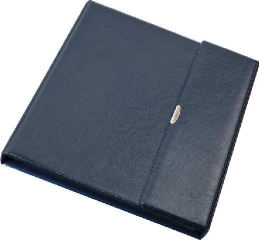 Mapa portof.piele eco,inchid.capsa,albastru