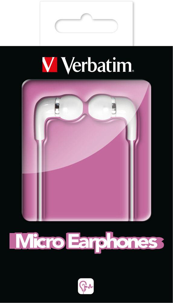 VERBATIM Micro Earphones White