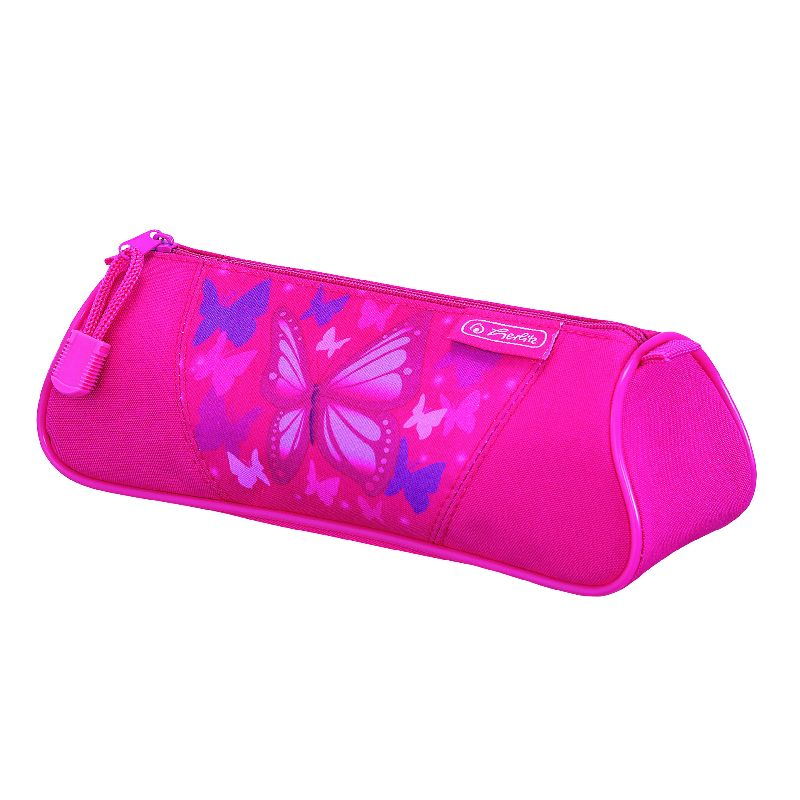 Pouch triunghiular Flexi,Pink Butterfly