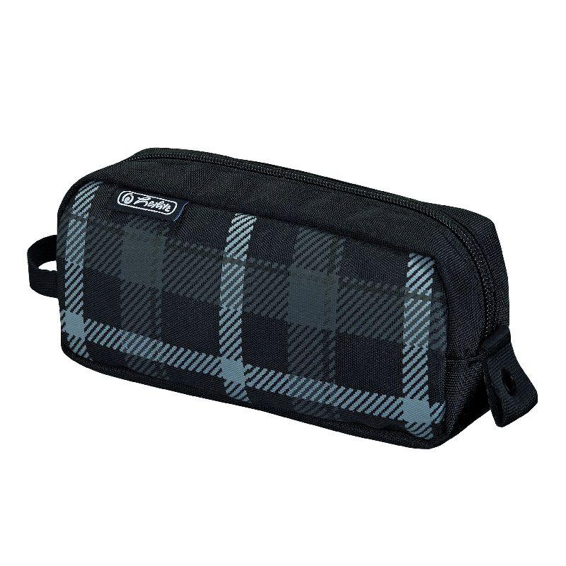 Pouch Be.Bag Quattro,Carouri,gri/negru