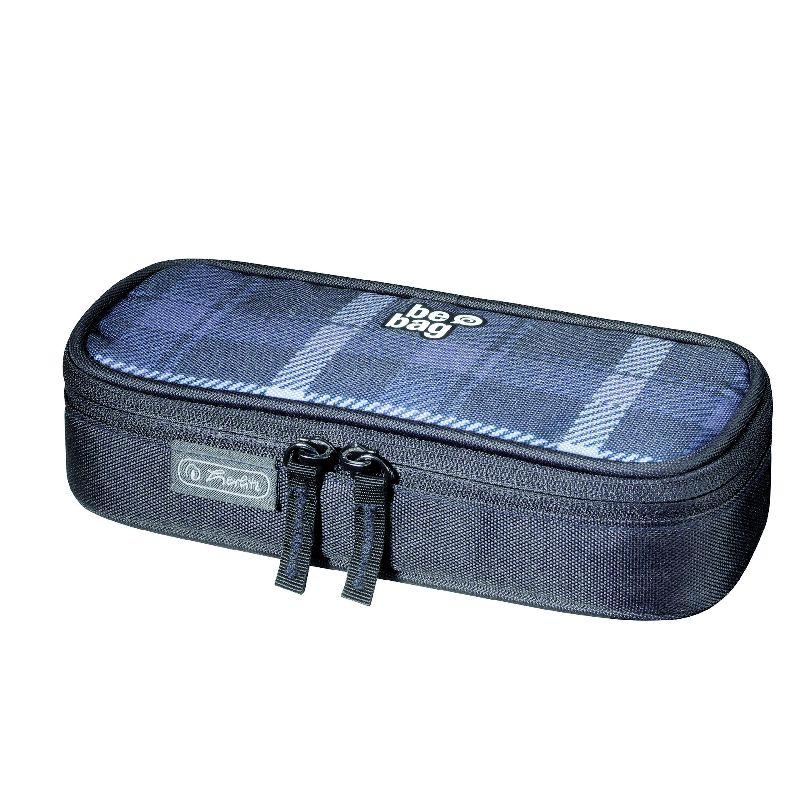 Pouch Be.Bag Cube,Carouri,negru/gri