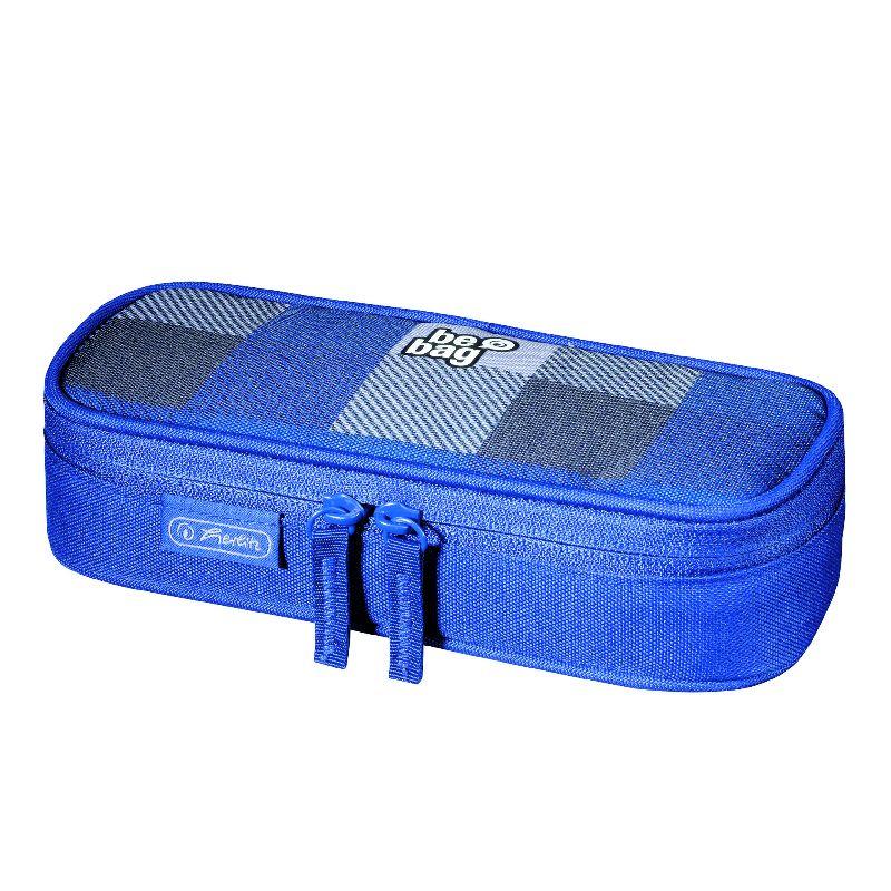 Pouch Be.Bag Cube,Carouri,albastru/gri