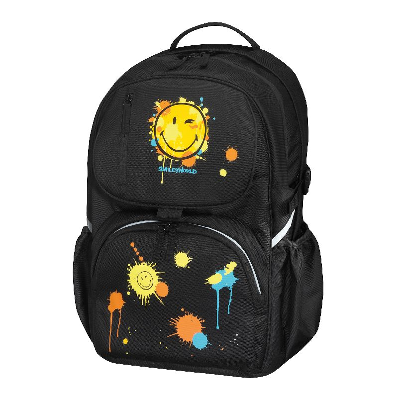 Rucsac Be.Bag Cube,Smiley Word,negru