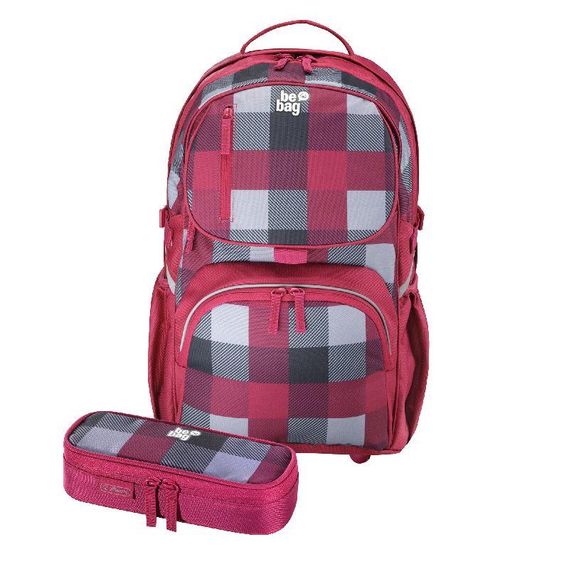 Rucsac Be.Bag Cube+pouch,Carouri burgund