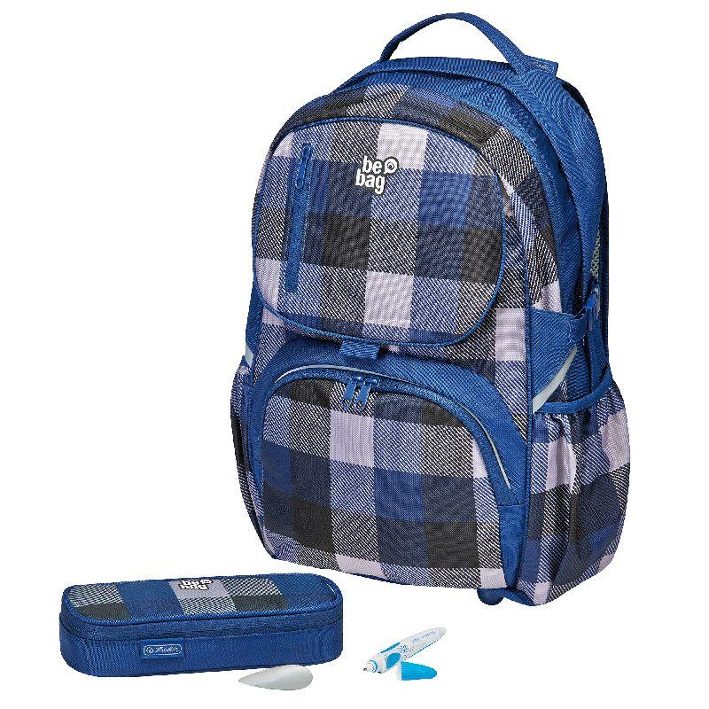 Rucsac Be.Bag Cube+pouch,Carouri,albatru