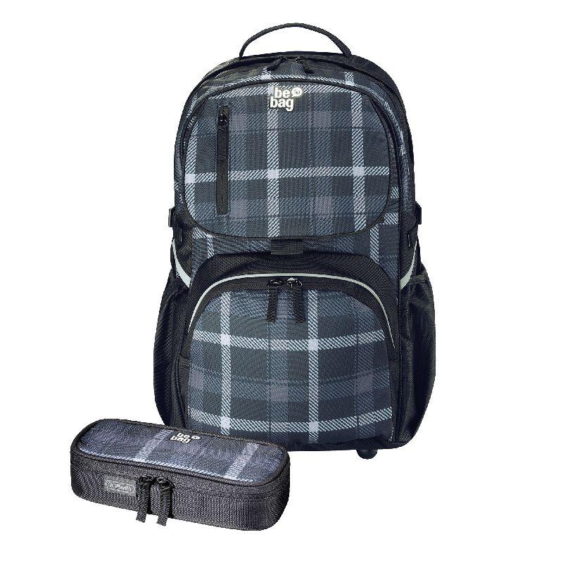 Rucsac Be.Bag Cube+pouch,Carouri,negru