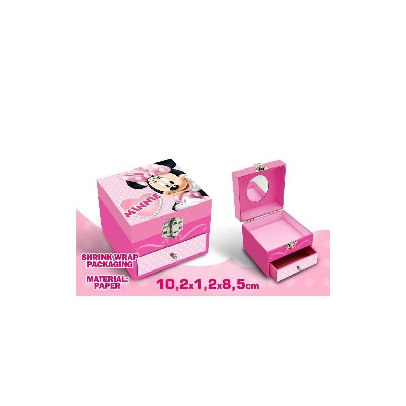 Caseta bijuterii,1sertar,roz,Minnie