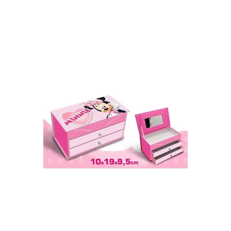 Caseta bijuterii,2sertare,roz,Minnie