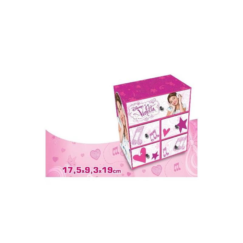 Caseta bijuterii,5sertare,Violetta