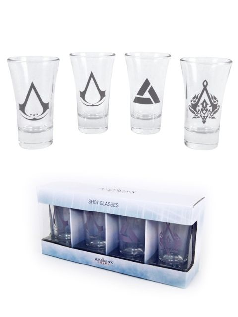 Shotglasses Assassins Creed  Set of 4