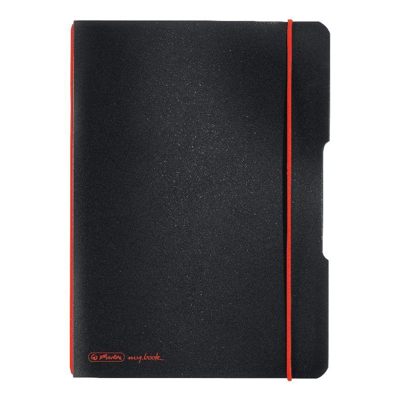 Caiet A6,My.Book Flex,2x40f,d+m,negru