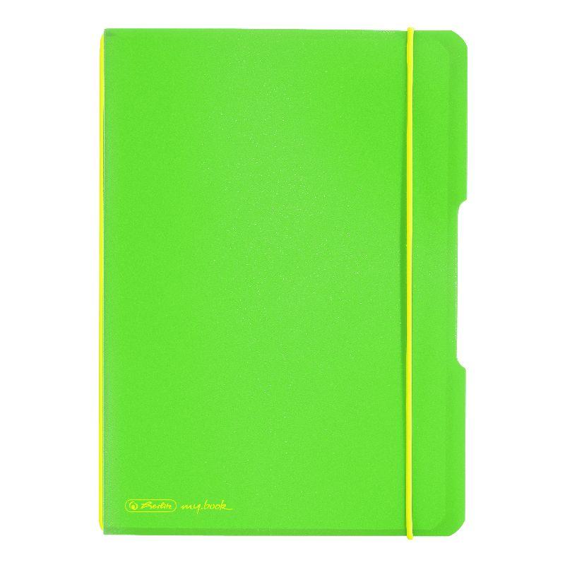 Caiet A6,My.Book Flex,2x40f,d+m,verde