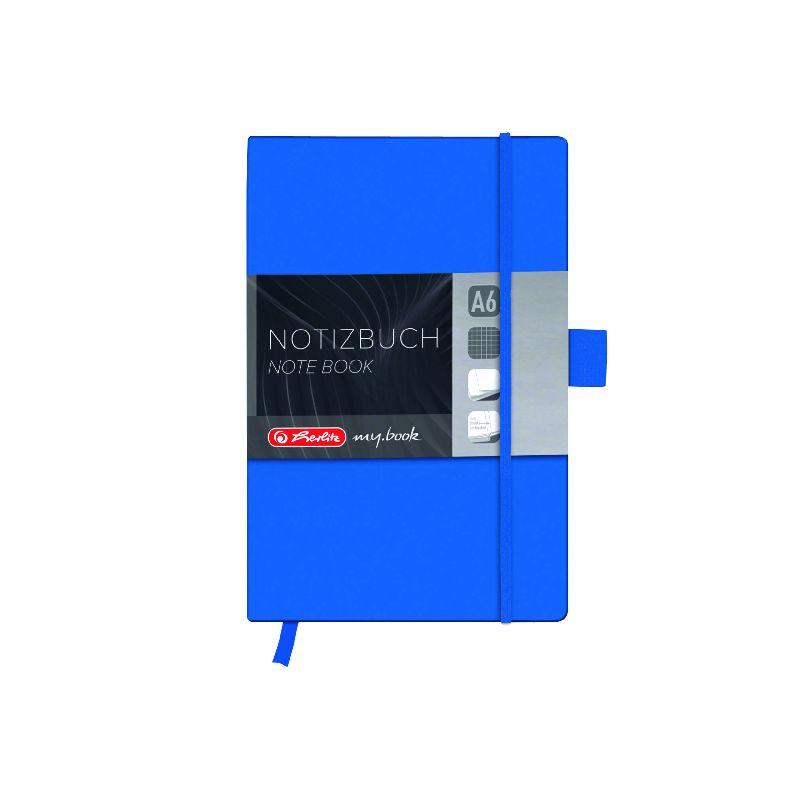 Agenda A6,My.Book Classic,96f,mate,albastru