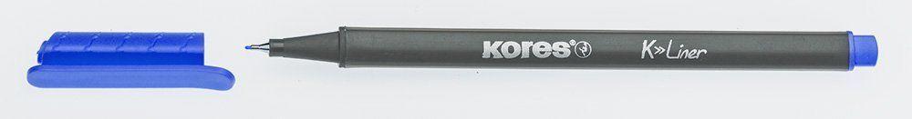 Liner Kores K-Liner,0.4mm,albastru