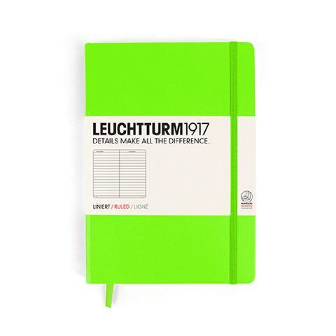 Caiet Leuchtturm A5,249f,dict,verde neon
